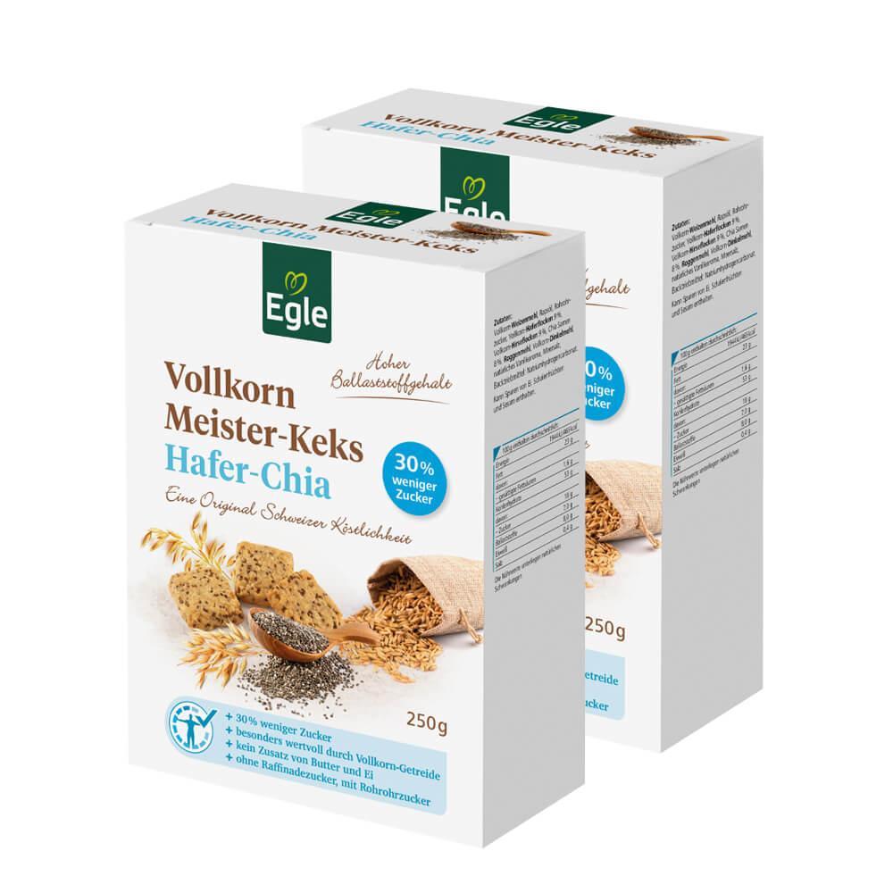 Vollkorn Meister-Keks Hafer-Chia 2 x 250 g