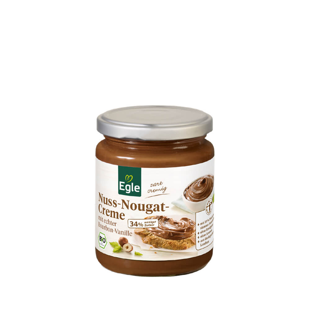Zuckerreduzierte Nuss-Nougat-Creme 250 g – Kostprobe