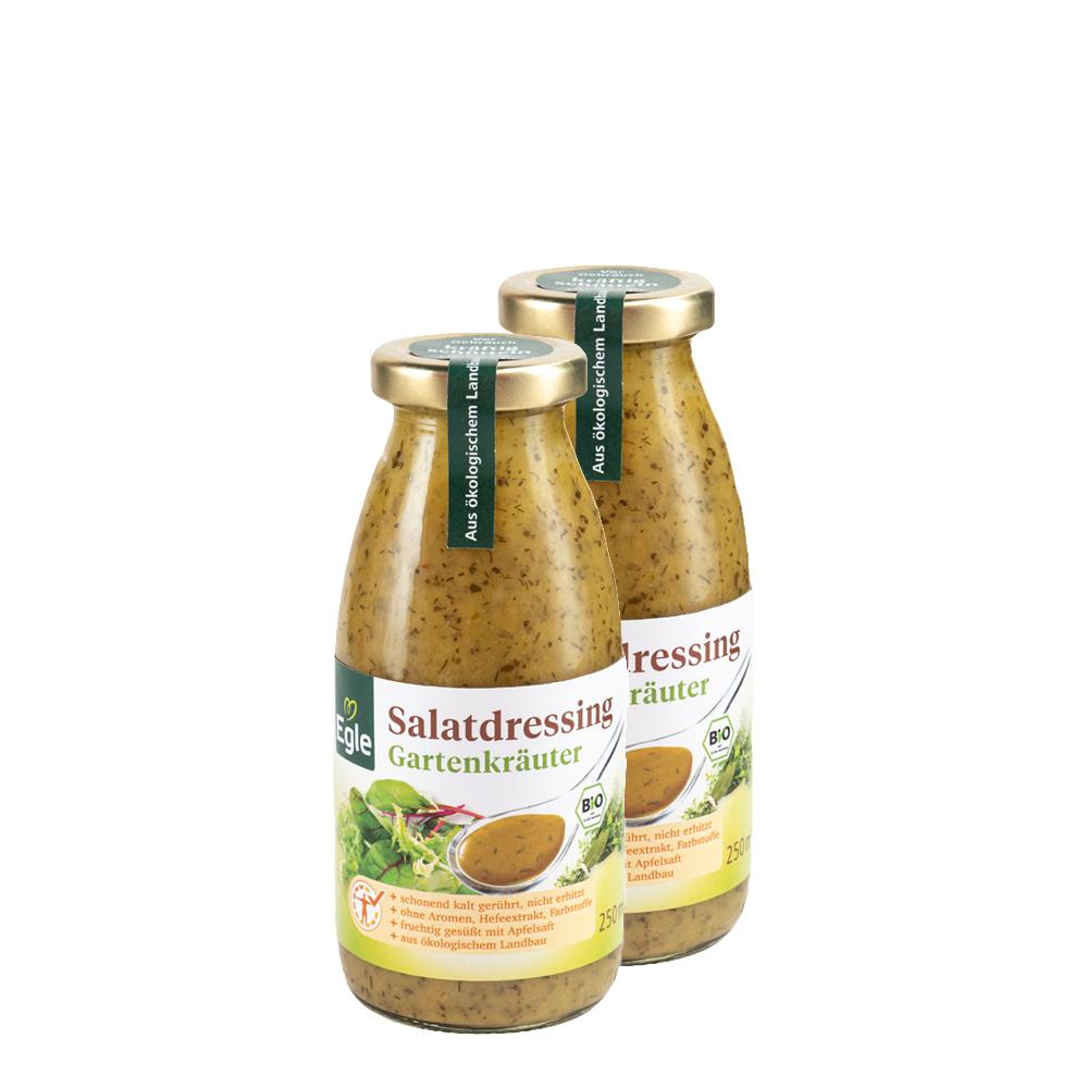 Bio Salatdressing Gartenkräuter 2 x 250 ml