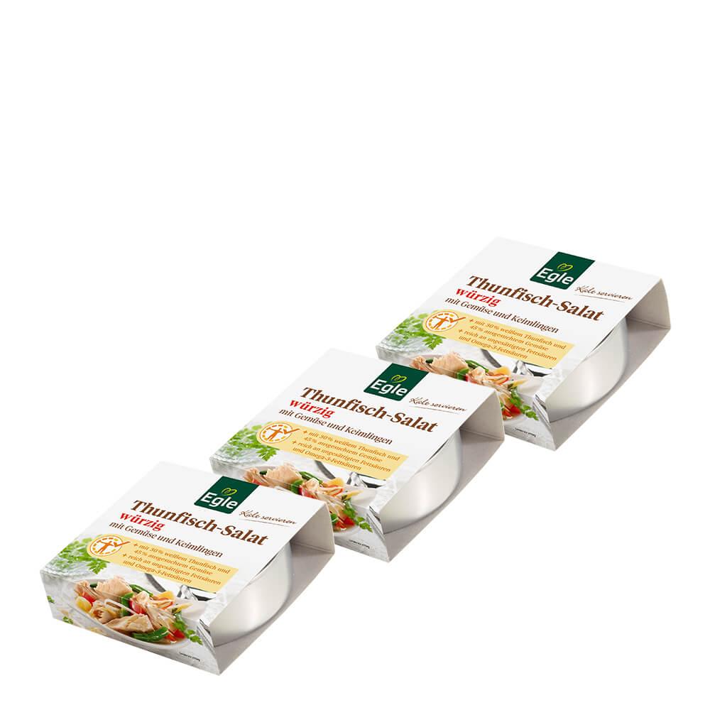 Thunfisch-Salat würzig 3 x 190 g