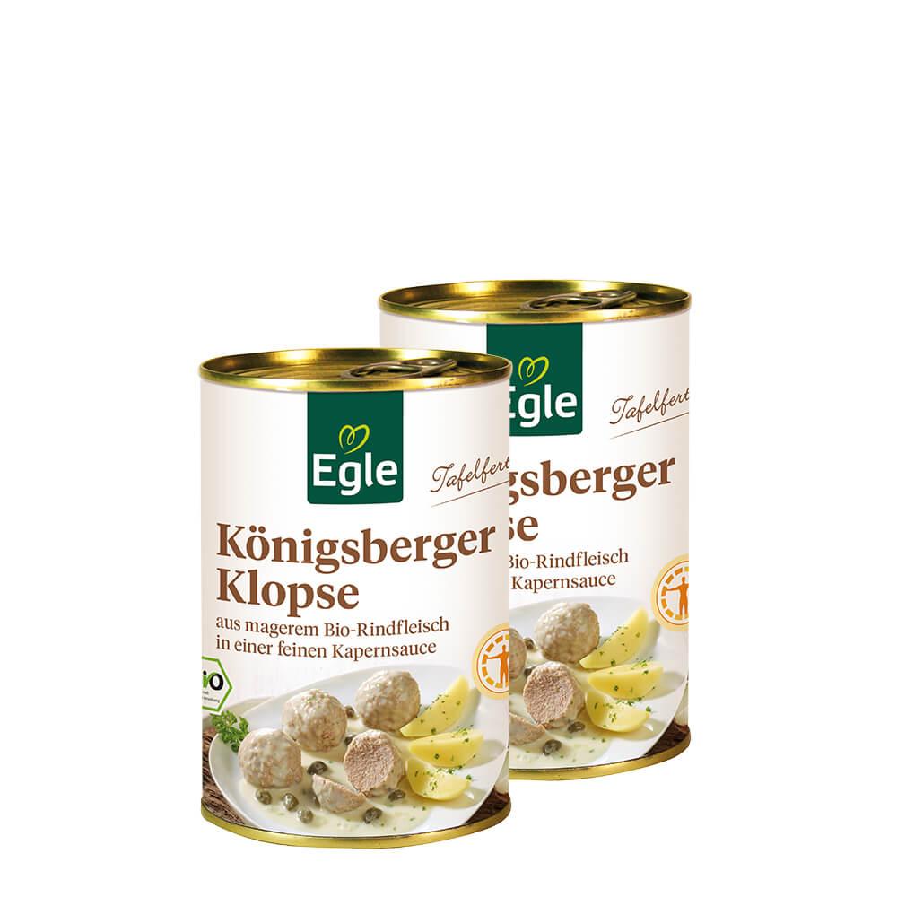 Bio Königsberger Klopse 2 x 400 g – Doppelpack