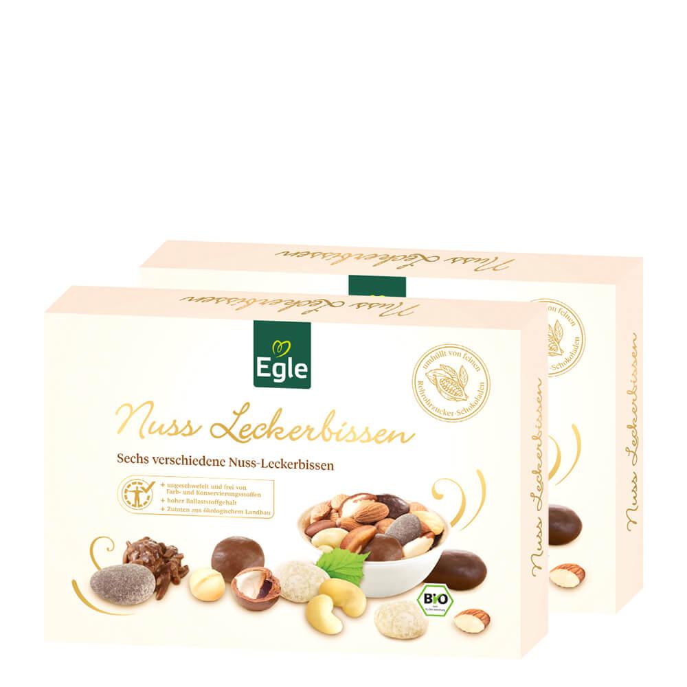 Bio Nussleckerbissen in Schokolade 2 x 200 g