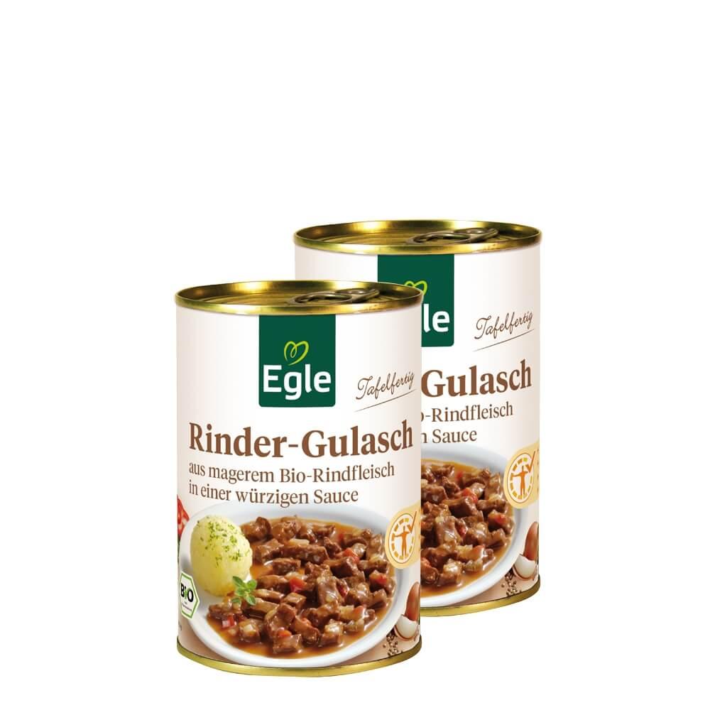 Bio Rindfleisch-Gulasch im Doppelpack 2 x 400 g