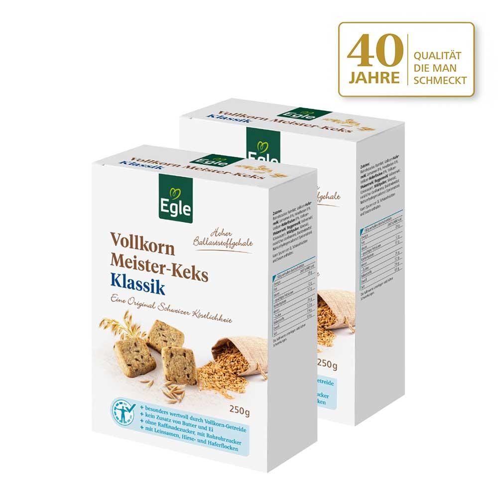 Vollkorn Meister-Keks Klassik 2 x 250 g - Jubiläums Angebot
