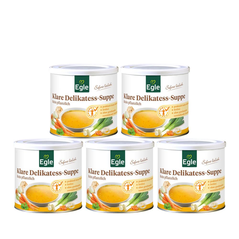 Klare Delikatess-Suppe-Sparpaket 5 x 400 g