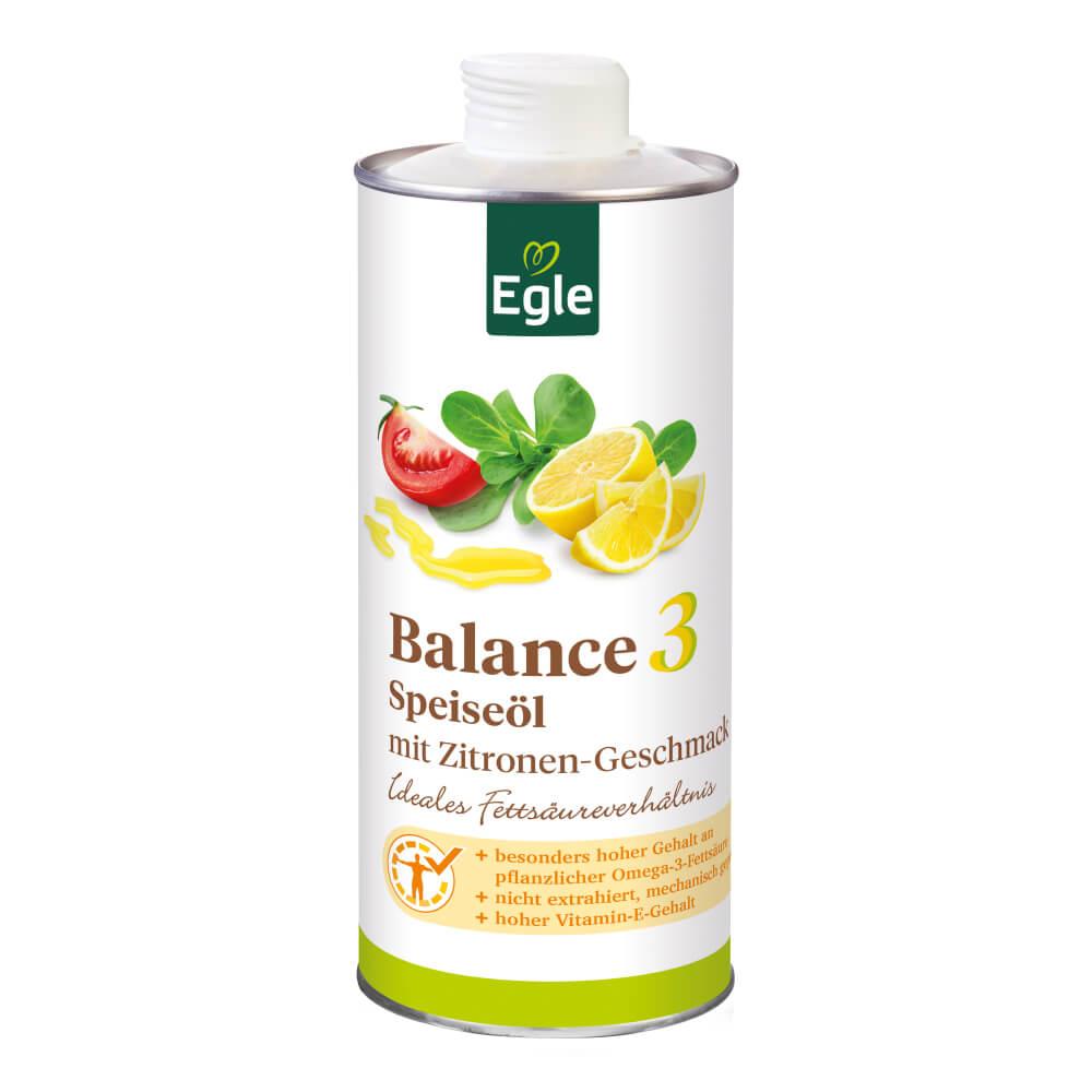 Omega 3 Öl mit Zitrone