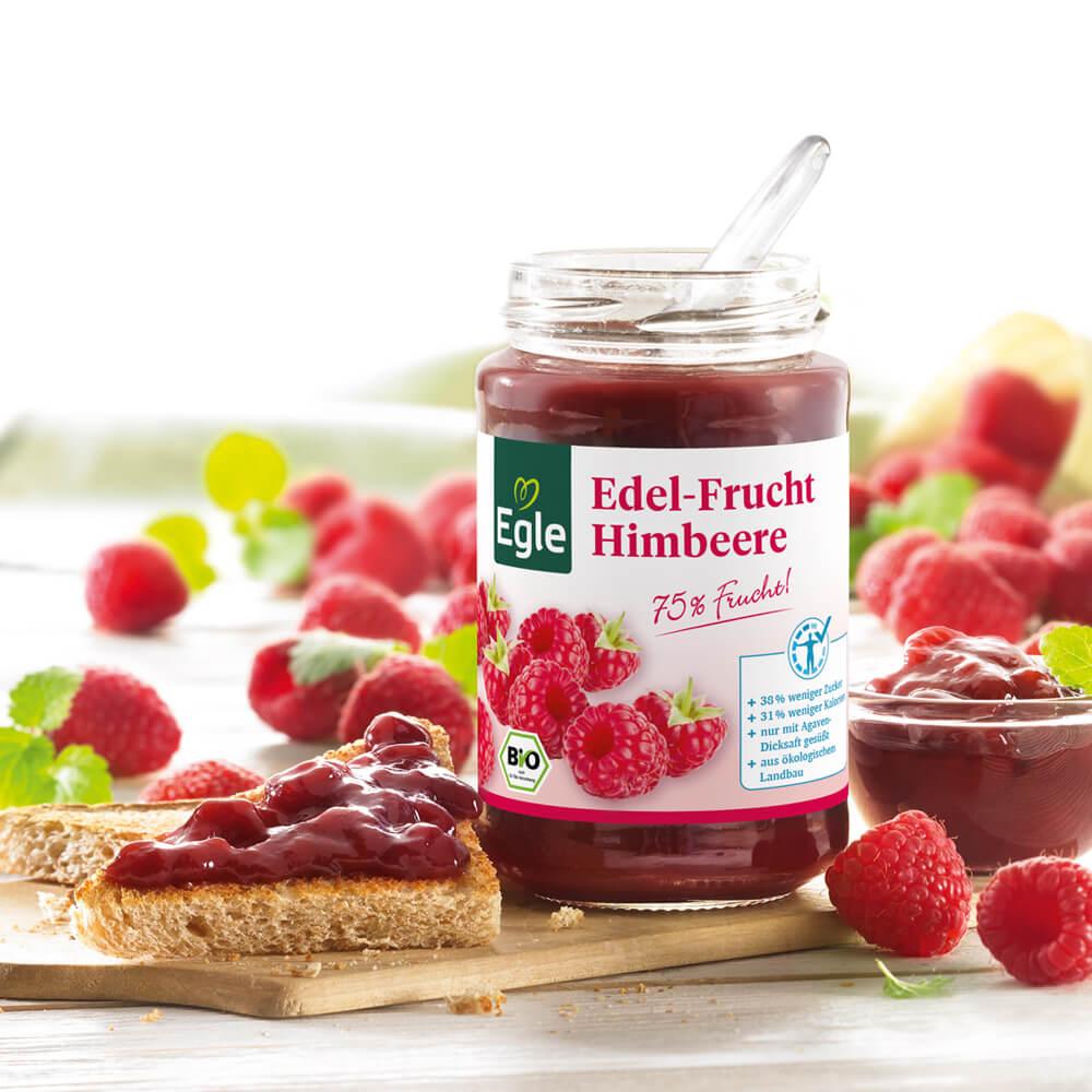 Bio Edel-Frucht Himbeere ohne Kerne 250 g
