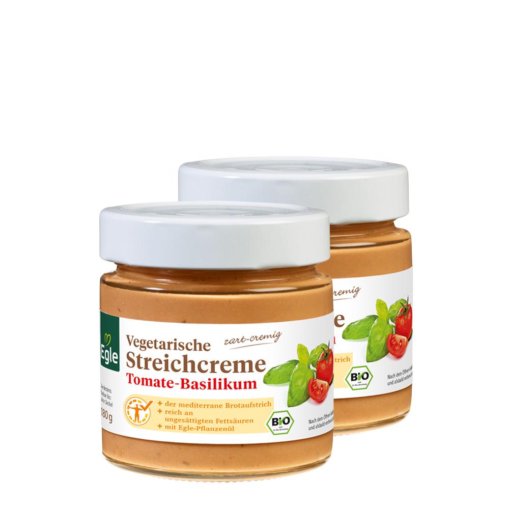 Vegetarische Bio Streichcreme Tomate-Basilikum 2 x 180 g