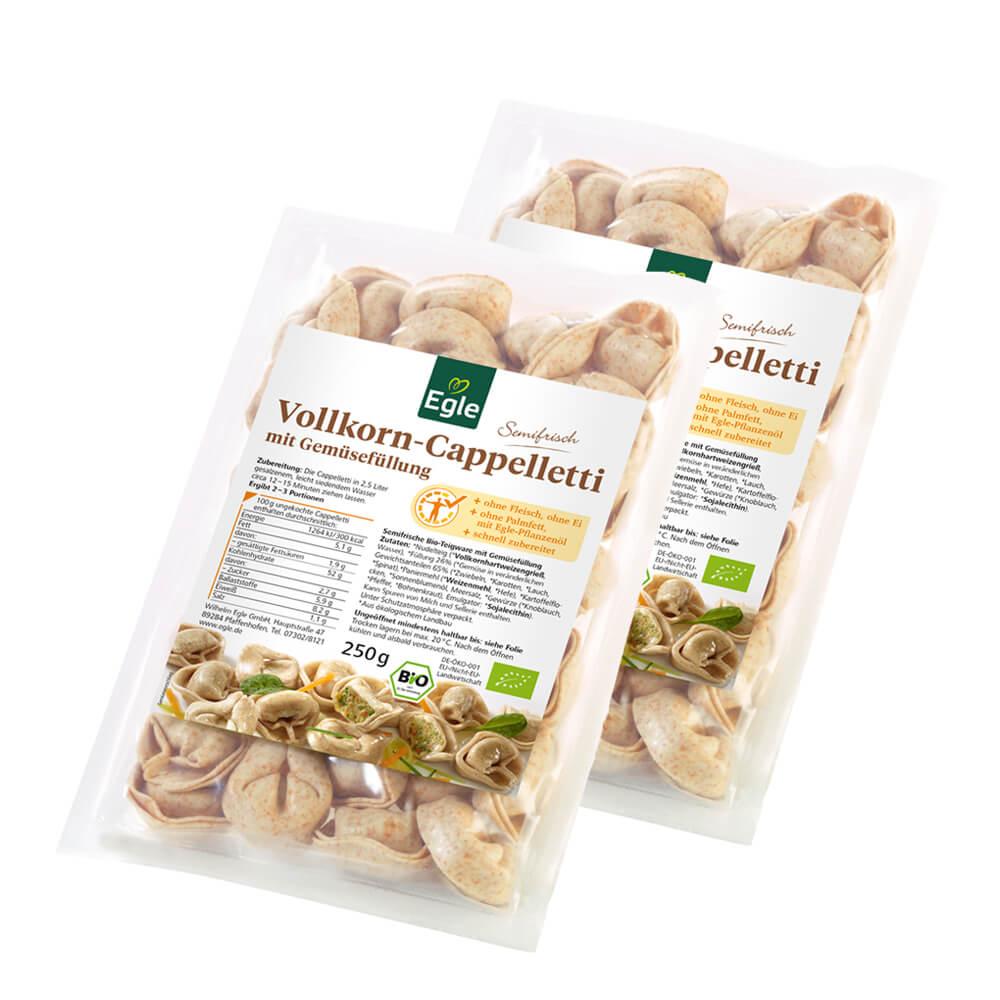 Bio Vollkorn Cappelletti mit Gemüsefüllung 2 x 250 g