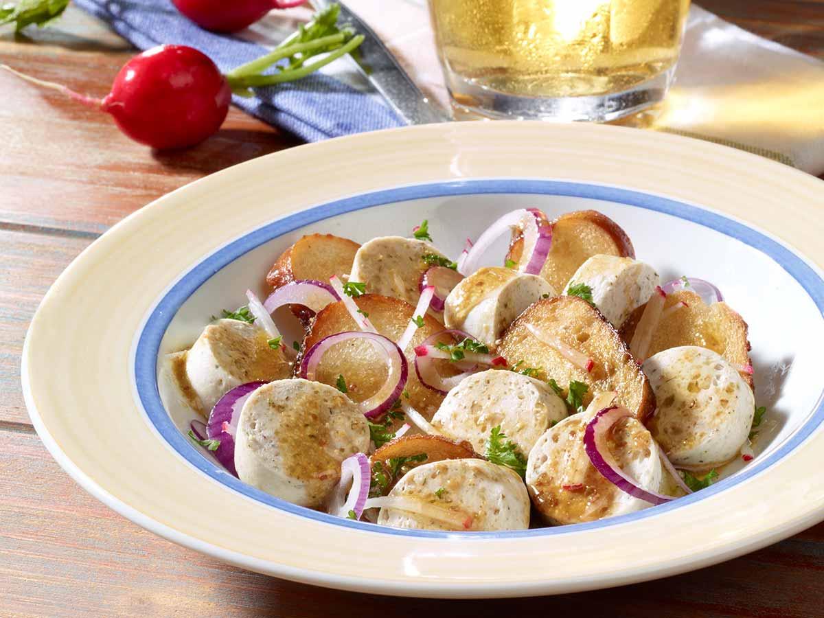 Weißwurstsalat