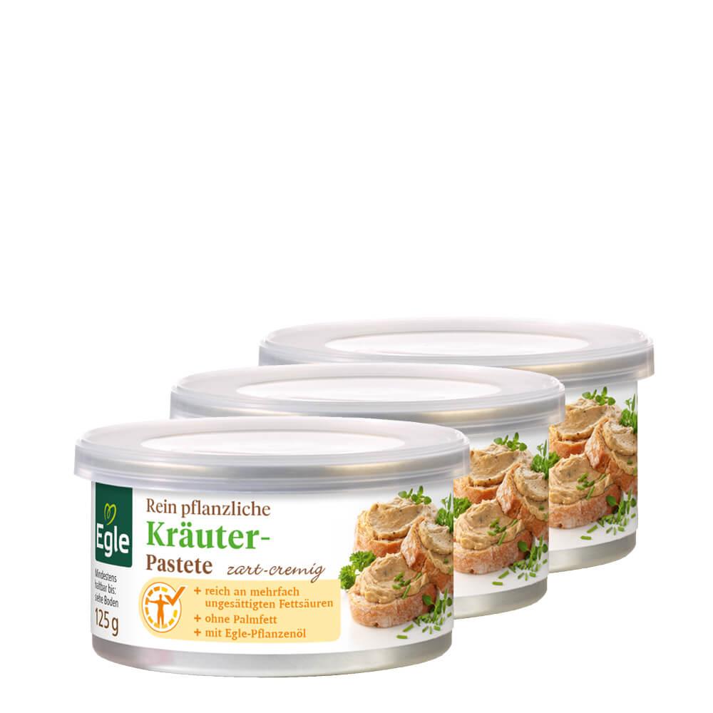Vegetarische Kräuter-Pastete 3 x 125 g