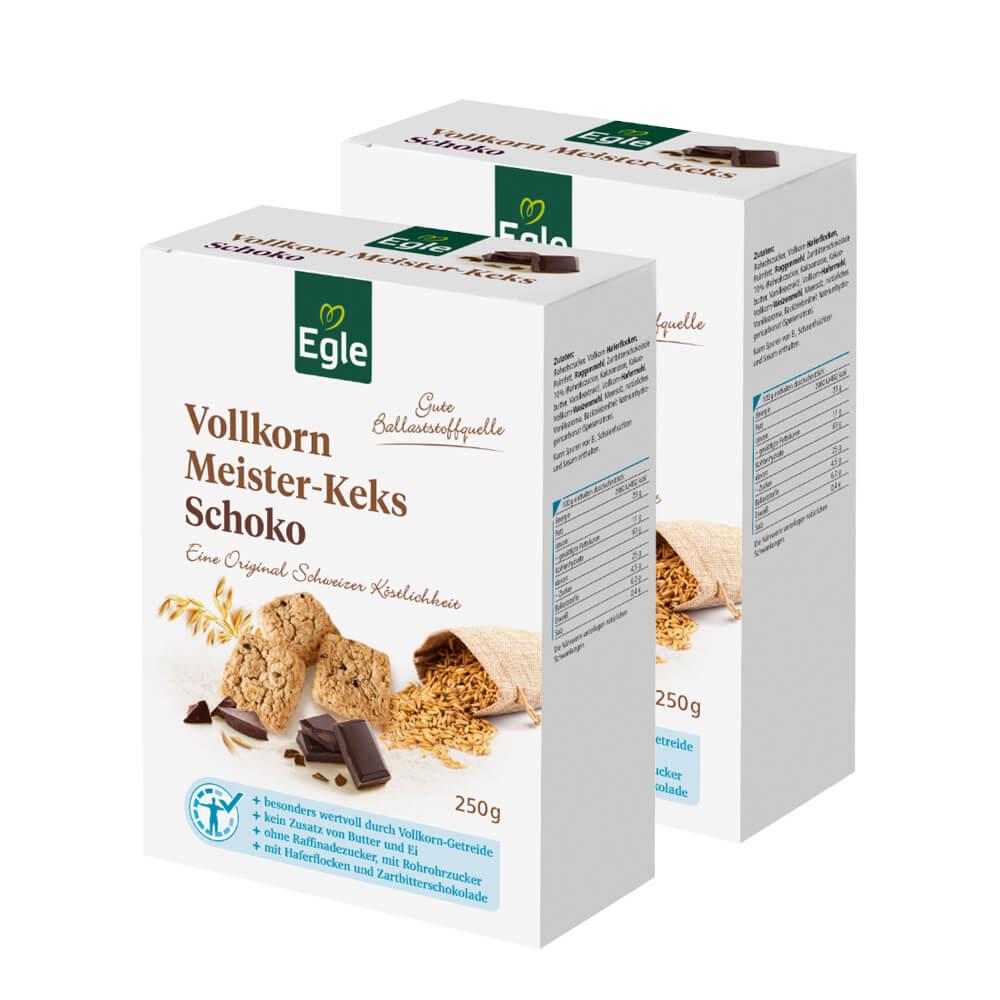 Vollkorn Meister-Keks Schoko 2 x 250 g