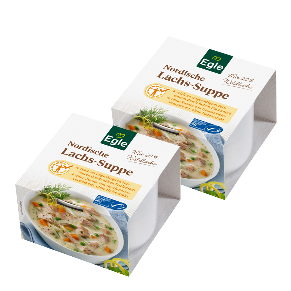 Nordische Lachs-Suppe 2 x 400 ml