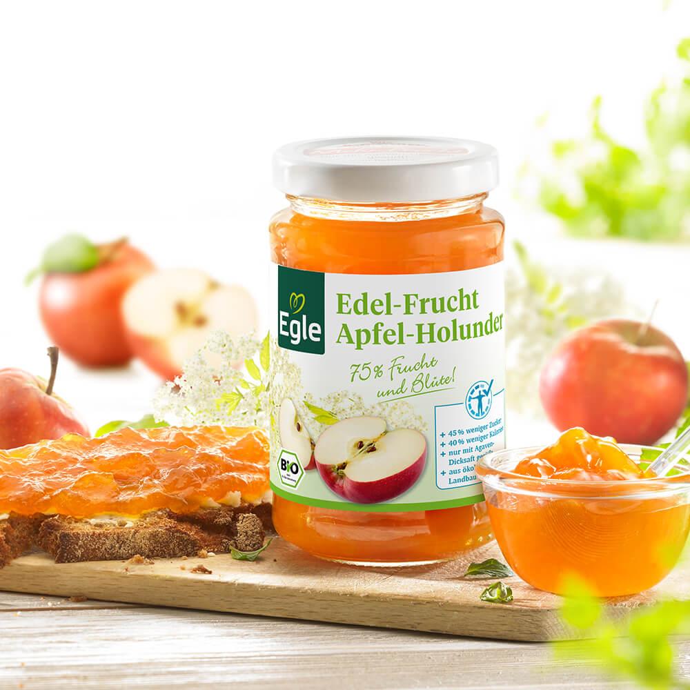 Bio Edel-Frucht Apfel-Holunderblüte 250 g