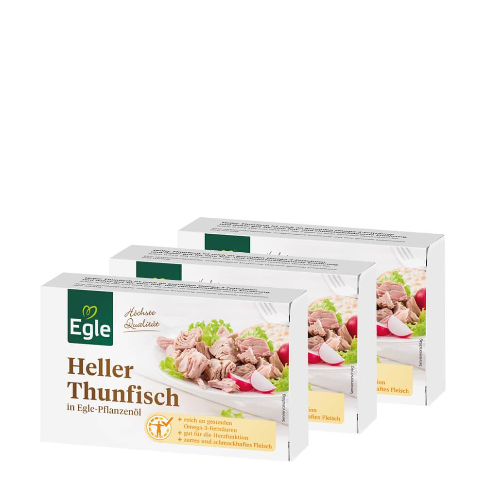 Heller Thunfisch in Öl 3 x 120 g