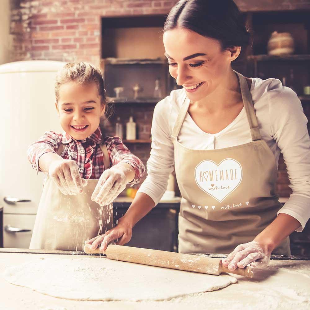 "Küchenschürze ""Homemade with love"""