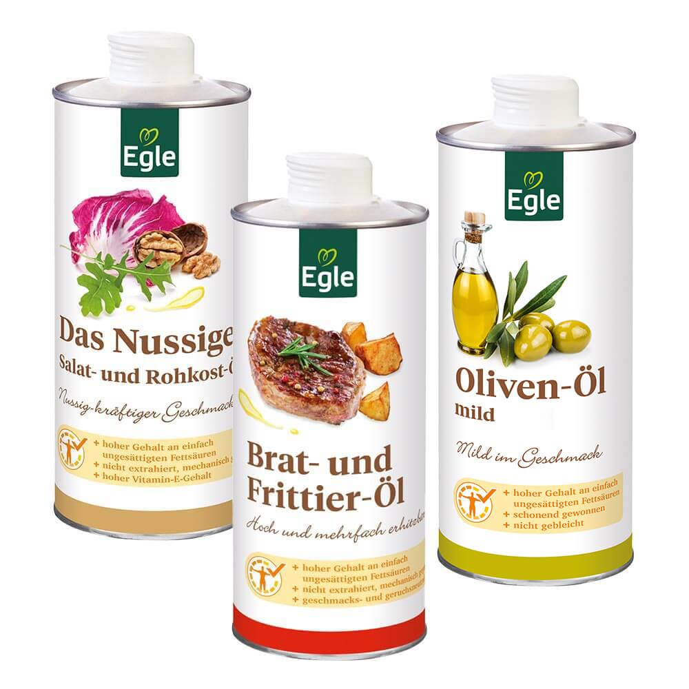 Herbst-Ölpaket 3 x 0,75 l