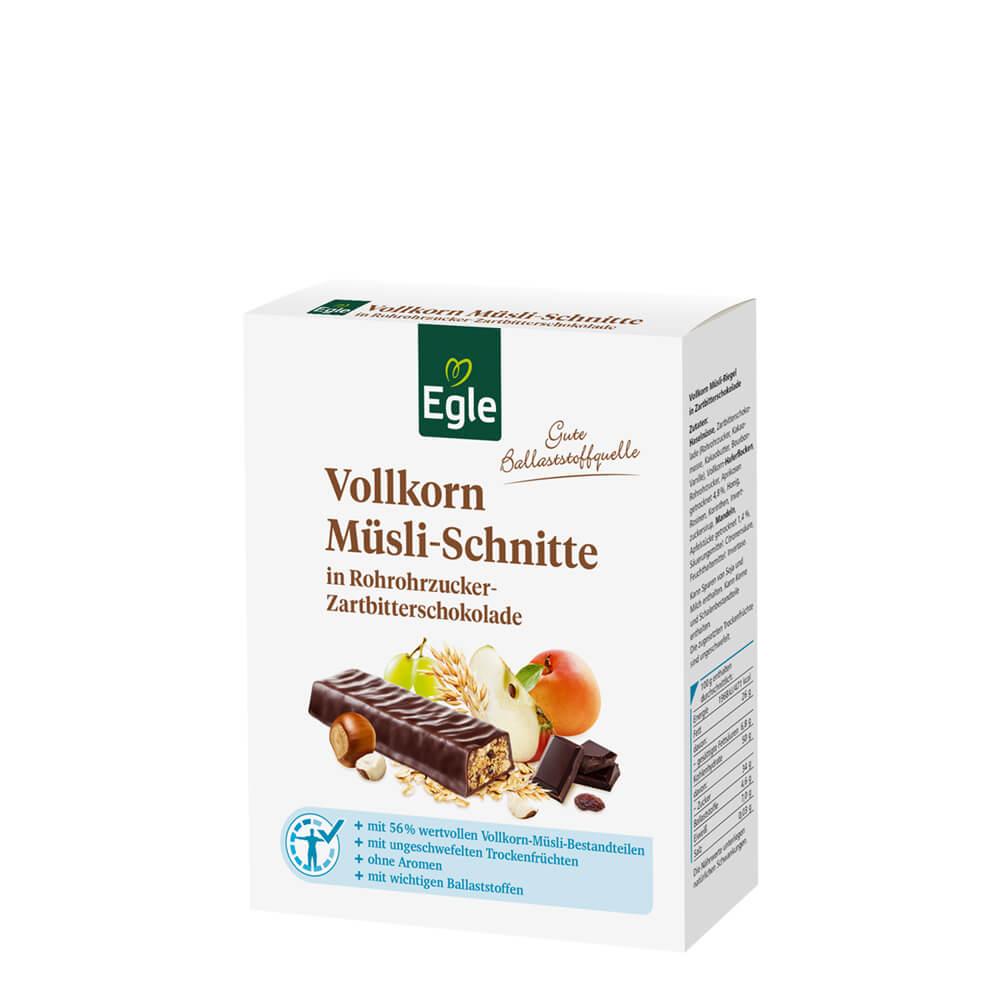 Vollkorn Müsli-Schnitten mit Schokolade 6 x 50 g Kostprobe
