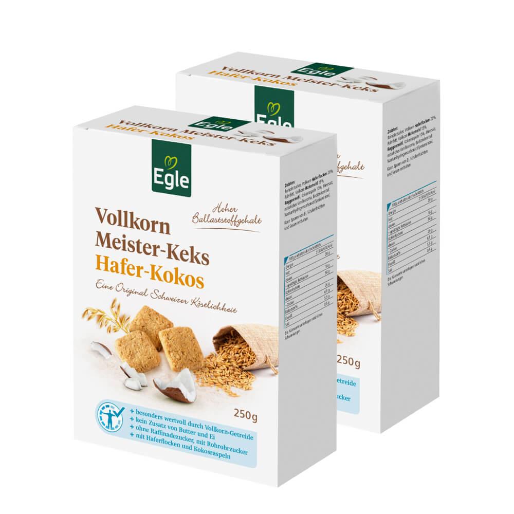 Vollkorn Meister-Keks Hafer-Kokos 2 x 250 g