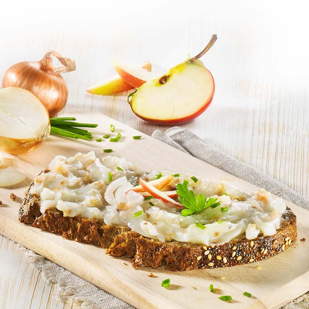 Pflanzliches Bio Schmalz mit Zwiebeln und Äpfeln 3 x 100 g