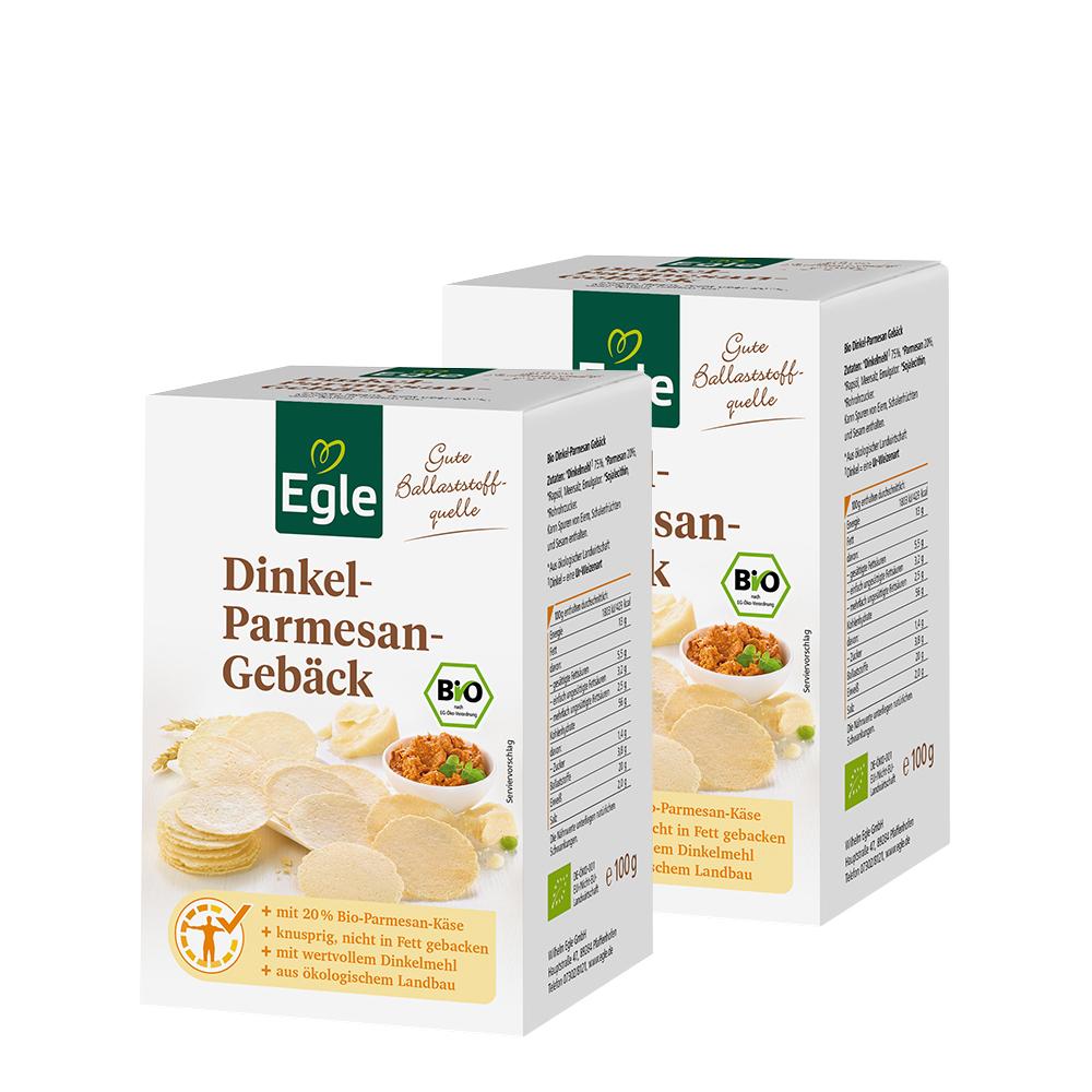 Bio Dinkel-Parmesan-Gebäck 2 x 100 g