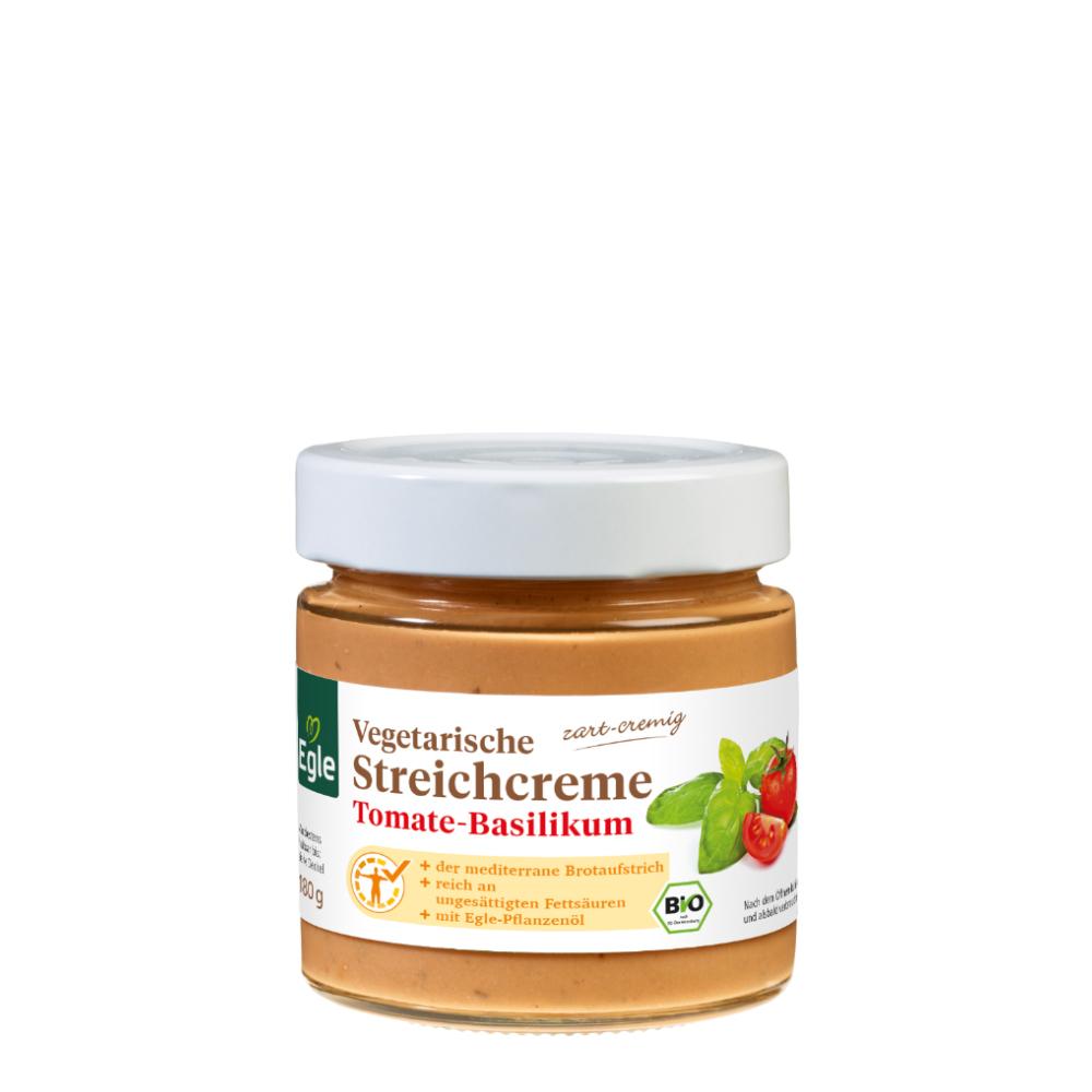 Vegetarische Bio Streichcreme Tomate-Basilikum Kostprobe