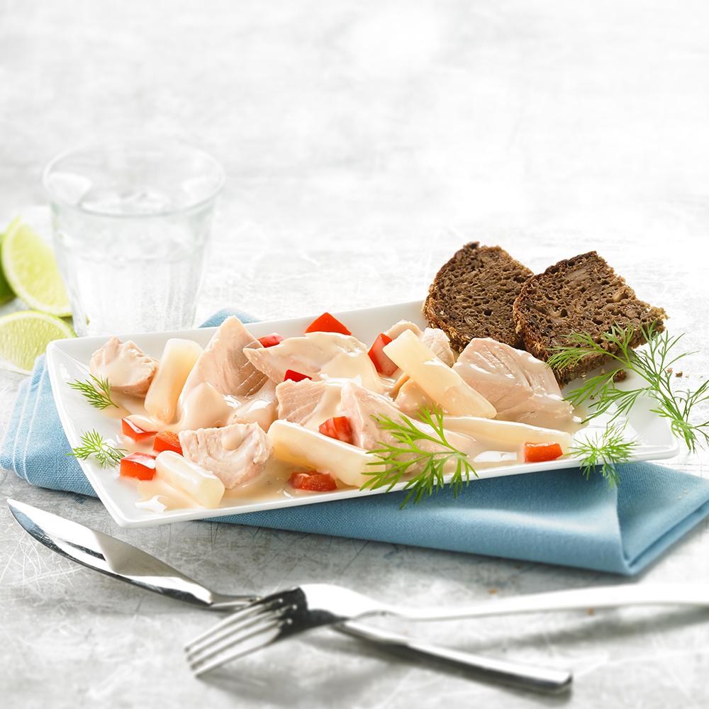 Lachs-Salat mit Schwarzwurzeln 3 x 190 g