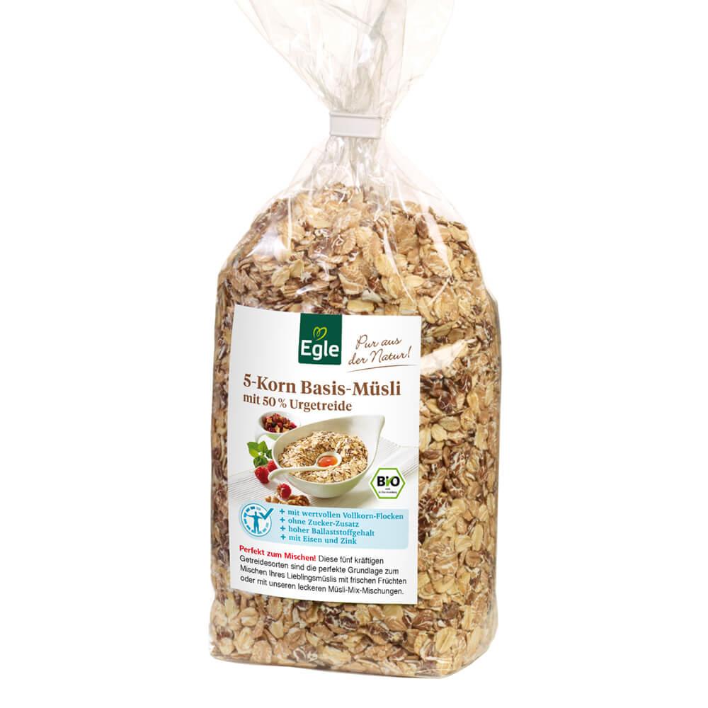 Bio 5 Korn Basis-Müsli 400 g