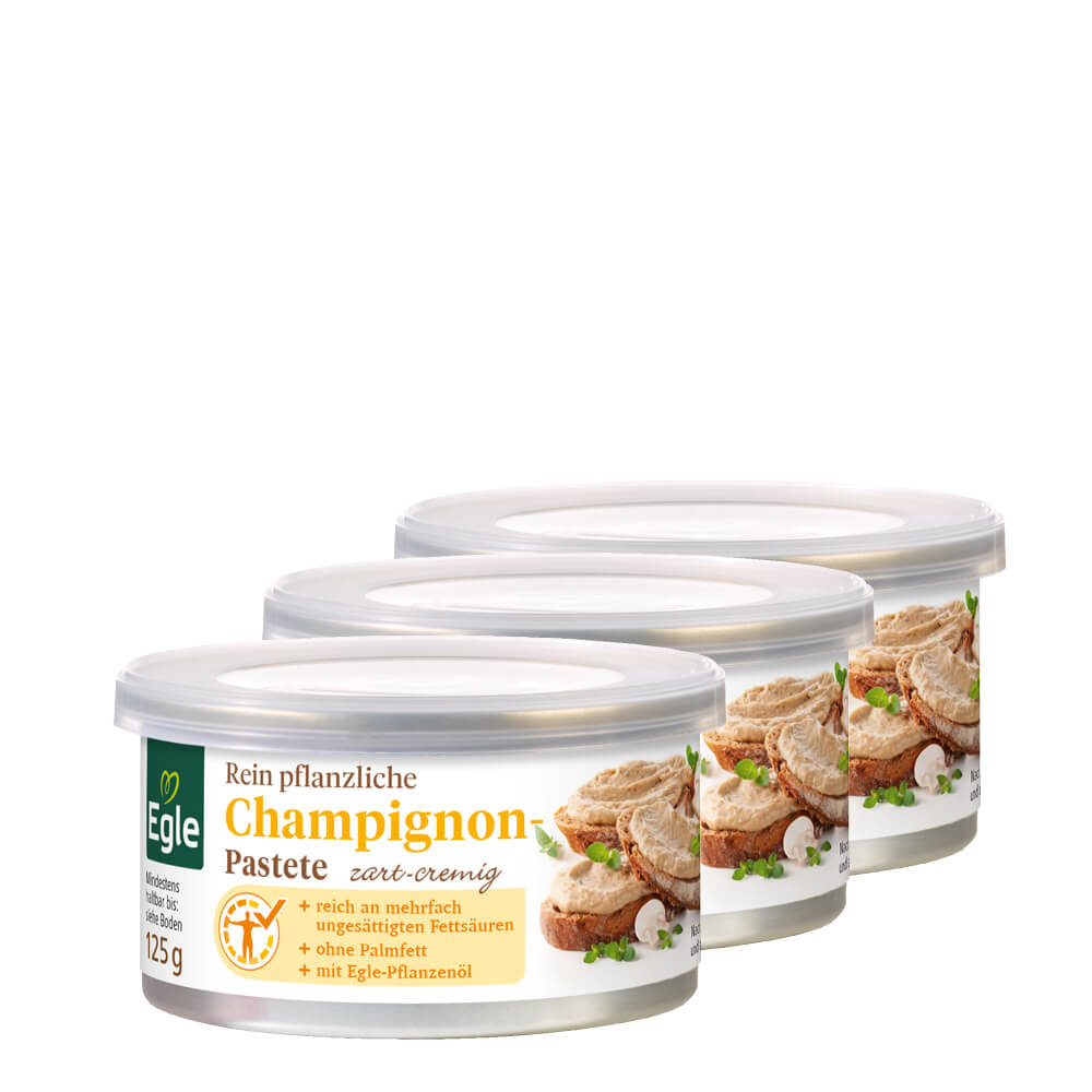 Vegetarische Champignon-Pastete 3 x 125 g